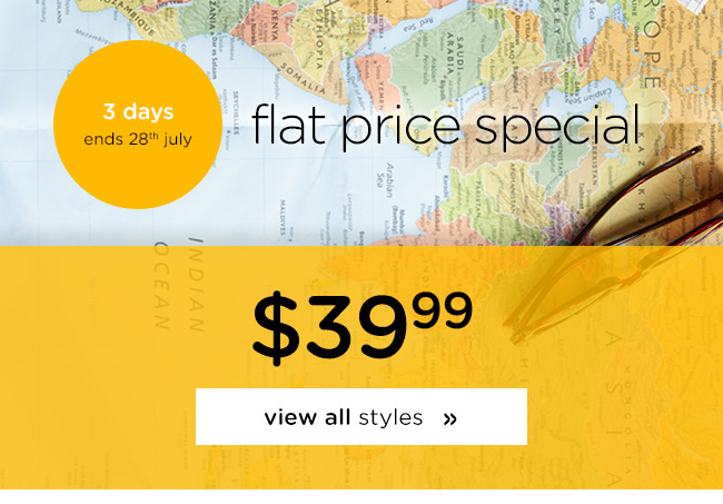 Flat price sale - $39.99 selected styles for 3 days only at Crocs Australia.