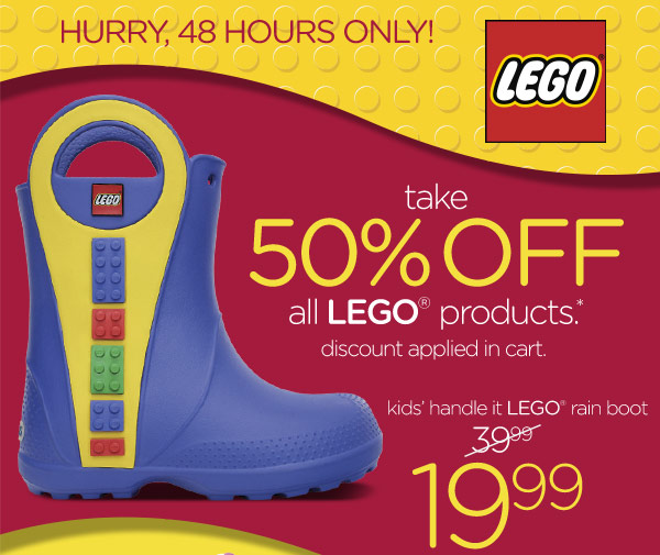 Hurry, 48 Hours Only! take 50% Off all LEGO products